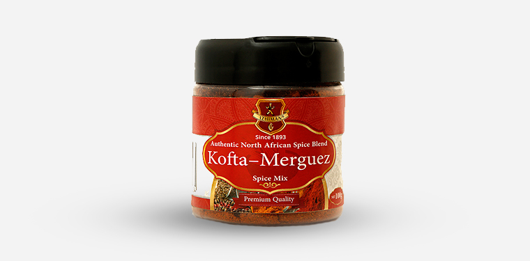 Kofta-Merguez Spice Mix Plastic Jar – 100 Grams