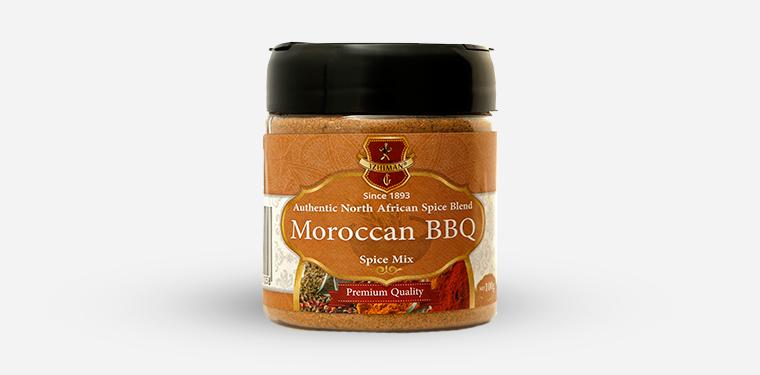 Moroccan BBQ Spice Mix Plastic Jar – 100 Grams