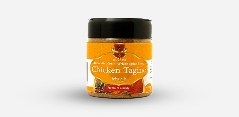 Chicken Tagine Spice Mix Plastic Jar – 100 Grams