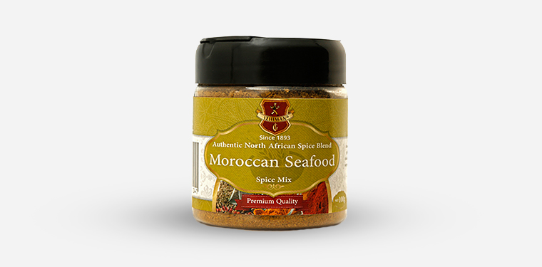 Moroccan Seafood Spice Mix Plastic Jar – 100 Grams