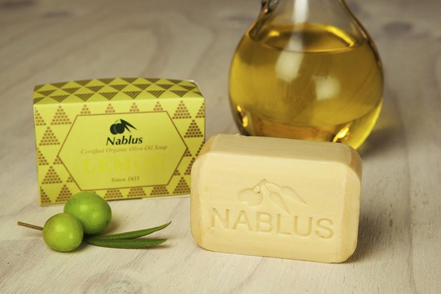 Certified Natural & Organic Olive Oil Nablus Soap Lemon_1