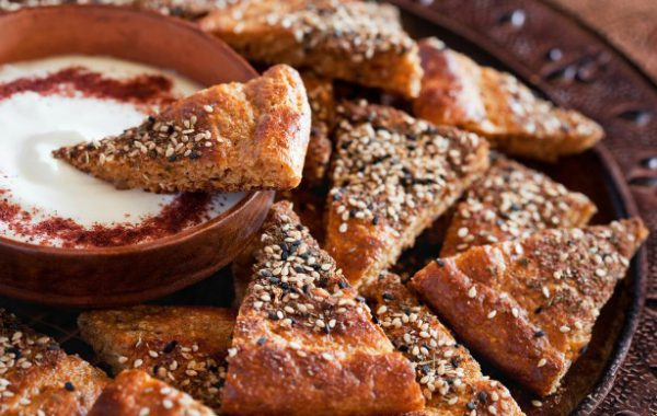 Izhiman Za`atar Corn Bread